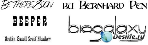Fonts Beeper, Berlin-Email-Serif-Shadow, biogalaxy, bernhard-pen