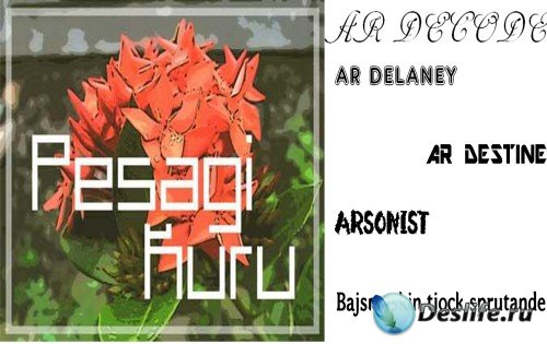 Fonts arsonist, ar-destine, ar-delaney, ar-decode