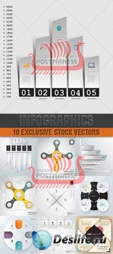Дизайн шаблонов для бинеса, инфографика | Design templates for enterprises, ...