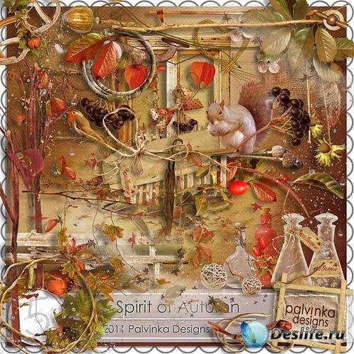 Прекрасный осенний скрап-комплект - Душа осени