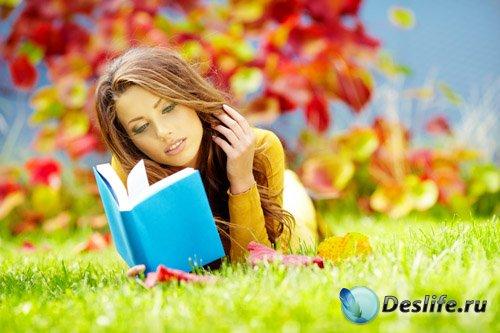Костюм для фотошоп - Яркий осенний день с книжкой