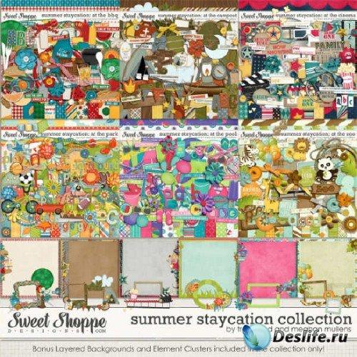 Комплект цифровых скрап-наборов с летней темой