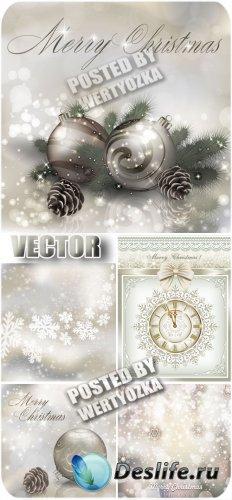 Серебристый новый год, зимние фоны / Silver new year, winter backgrounds -  ...