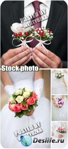 Свадебные букеты / Wedding flowers - stock photos