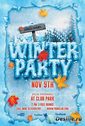 GraphicRiver - Winter Party