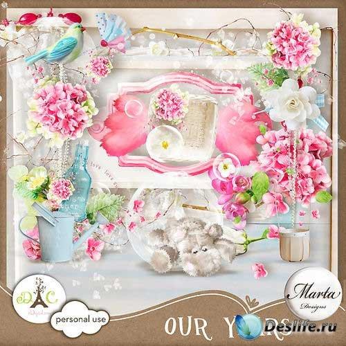 Очаровательный романтический скрап-комплект - Наши года