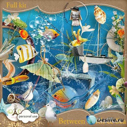 Морской скрап-комплект - Между землей и морем