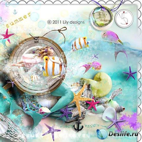 Морской скрап-комплект - Лето