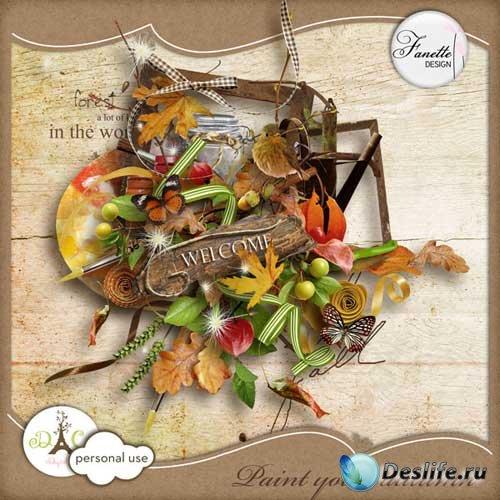 Осенний скрап-комплект - Раскрашенная осень