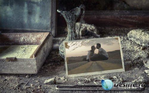Рамка для фотошоп - Старинные теплые воспоминания