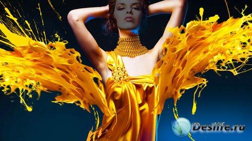 Костюм для девушек - Красивое платье из краски