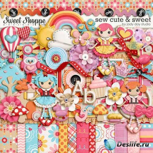 Очаровательный детский скрап-комплект - Sew Cute and Sweet