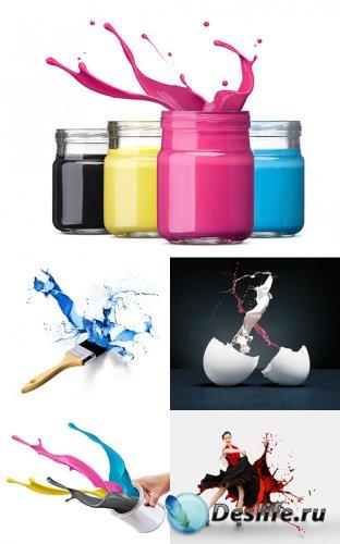 Клипарт - Цветные краски