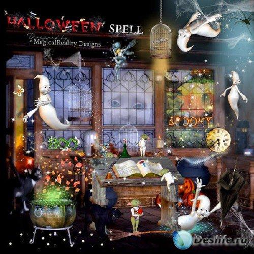 Цифровой скрап-комплект - Хэллоуинские заклинания
