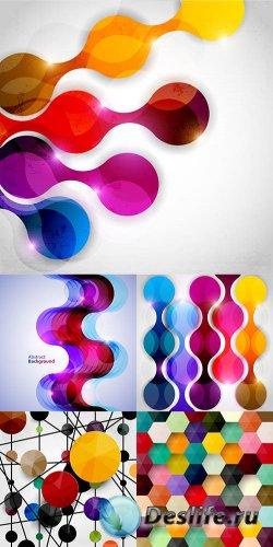 Коллекция векторных абстрактных фонов 12