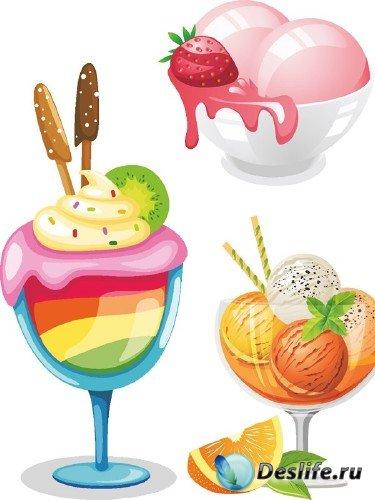 Векторный сток: Мороженое