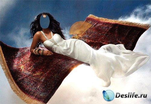 Женский костюм - Брюнетка с веером на сказочном ковре