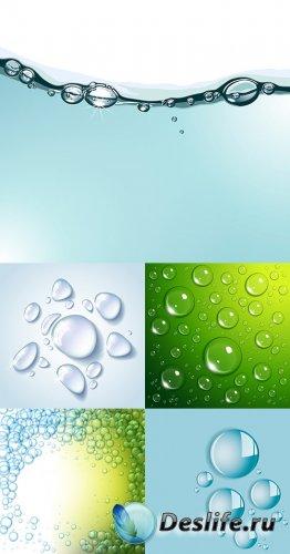 Векторный клипарт - Капли воды