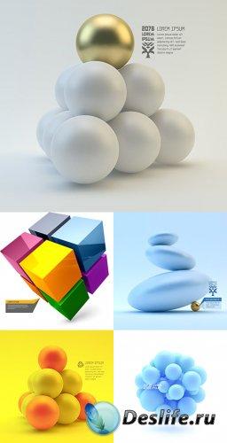 Векторный клипарт - 3D объекты