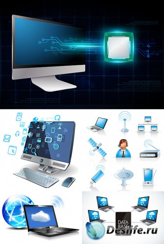 Векторный клипарт - Компьютерная коммуникация
