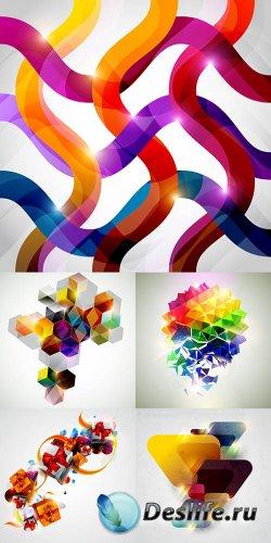 Коллекция векторных абстрактных фонов 14