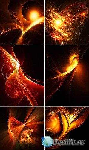 Коллекция огненных абстрактных фонов