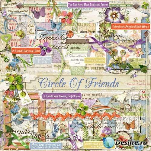 Цветочный скрап-комплект - Дружеский круг