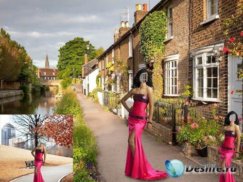 Костюм для фото - В красном нарядном платье