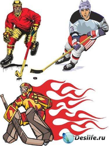 Хоккей на льду в векторе