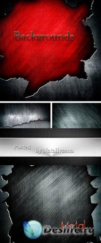 Фоны  – Черно – красный металл