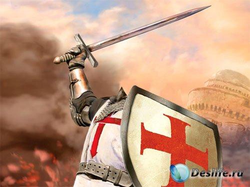 Костюм для Photoshop - Рыцарь с щитом и мечом в сражении