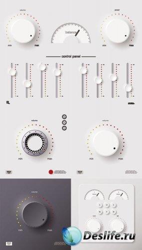 Контрольная панель плеера в векторе