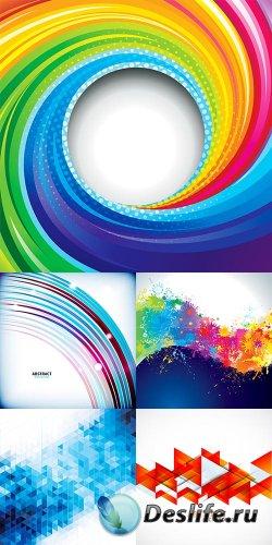 Коллекция векторных абстрактных фонов 18