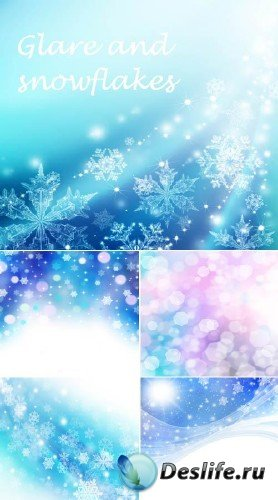 Блики и снежинки (набор HQ фонов)