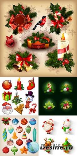 Векторные Новогодние иконки