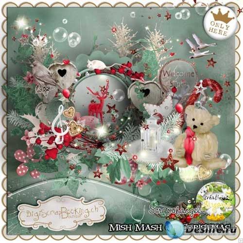 Рождественский скрап-комплект - Рождественский переполох