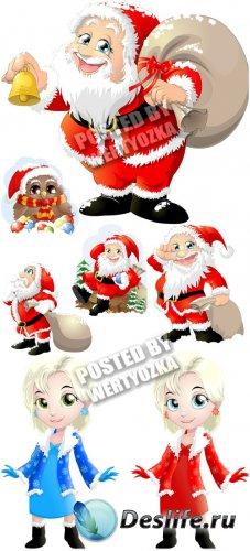 Рождественские персонажи - вектор