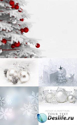 Растровый клипарт - Светлые новогодние фоны