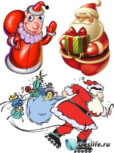 Подборка отрисовок Санта Клауса