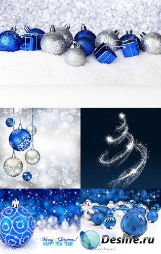 Синие Новогодние фоны