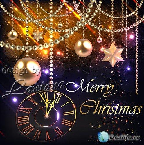 PSD исходник - Добрый праздник Новый год 24