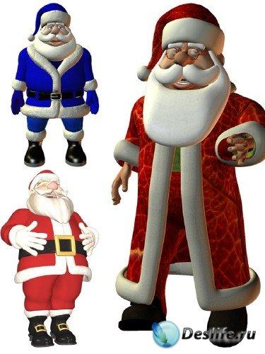 Подборка 3D изображений Санта Клауса