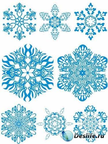 Снежинки - подборка вектора