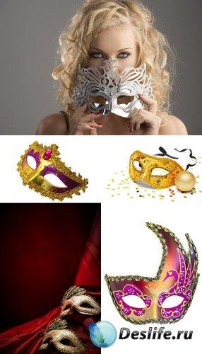 Растровый клипарт - Карнавальные маски 2