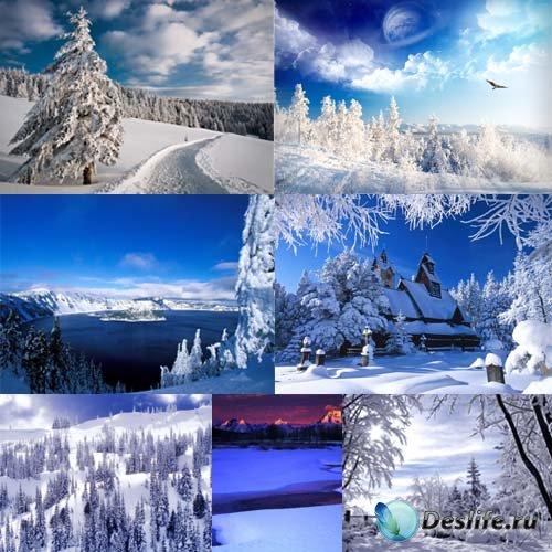 Клипарты для фотошопа - Снежная зима