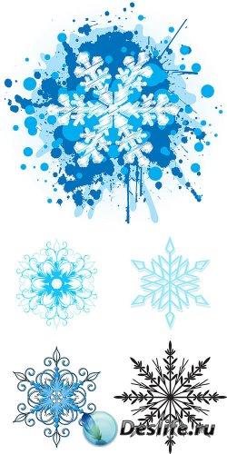 Векторный клипарт - Снежинки