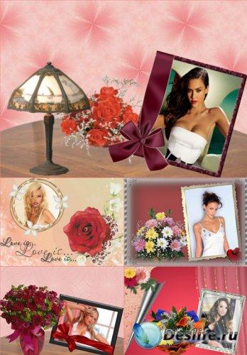 Романтические фоторамки - Запах нежных цветов