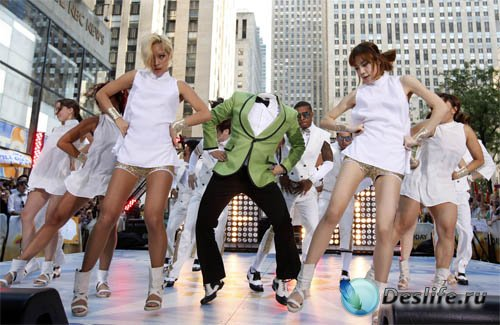 Костюм psd мужской - Веселый танец gangnamstyle