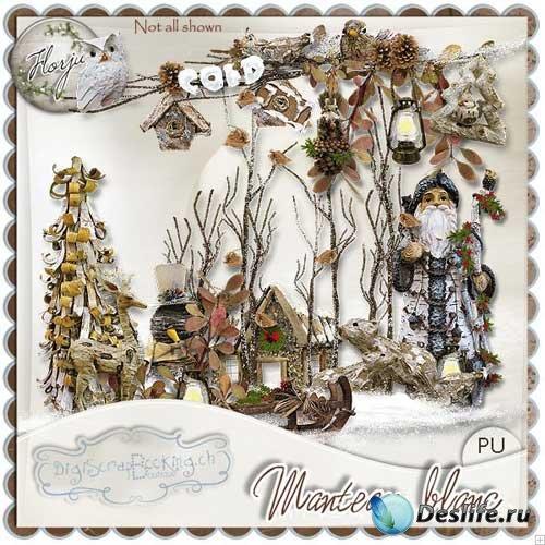Зимний скрап-комплект - Белоснежное пальто