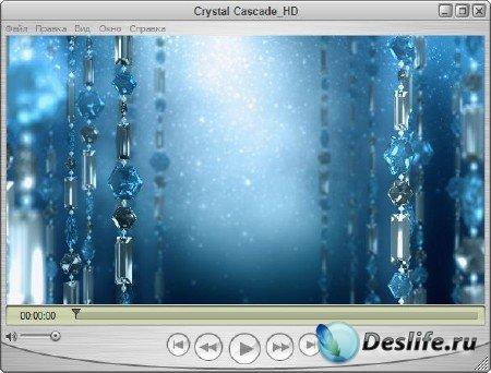 Футаж для оформления видео - Кристальный каскад